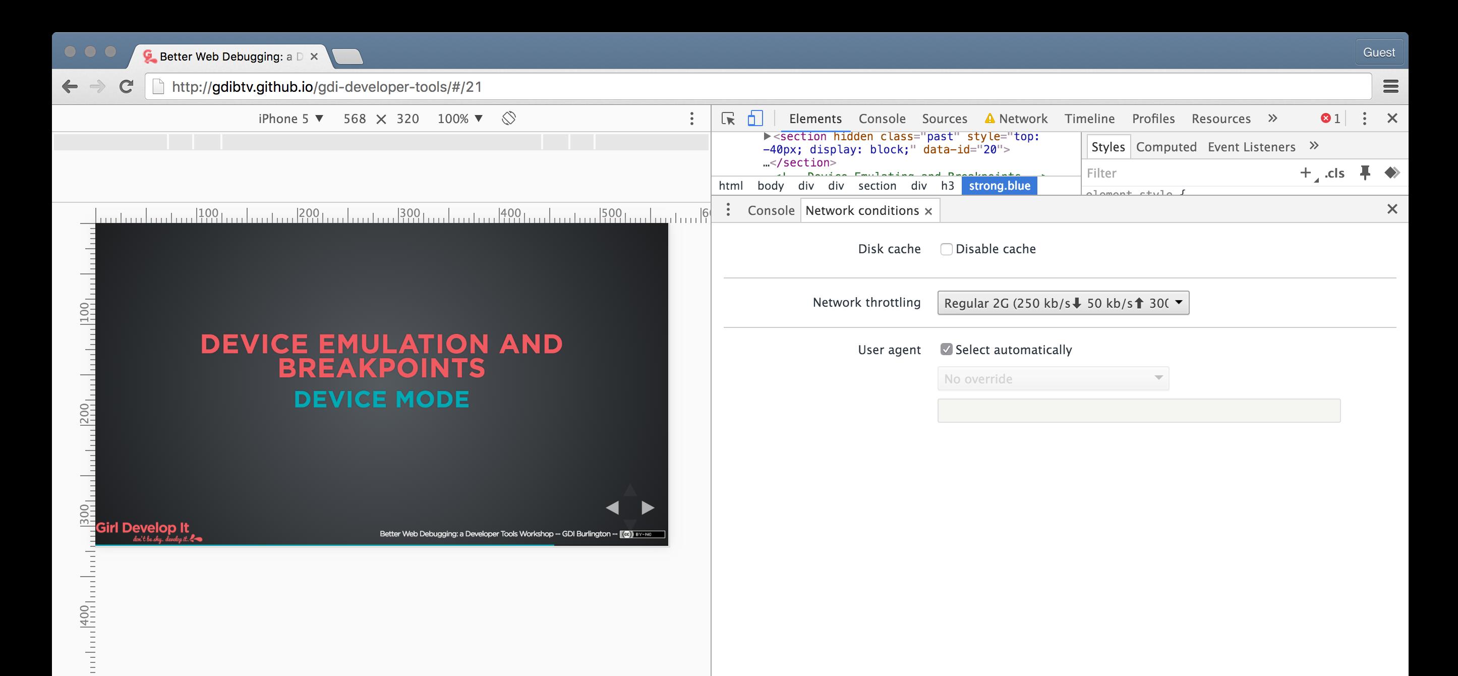Better Web Debugging: a Developer Tools Workshop
